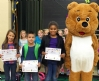 Scrubby Bear visits Cumberland County Elementary School and announces winners for the National Health Education Week drawing contest. Thank you all for participating and congratulations to all the winners!